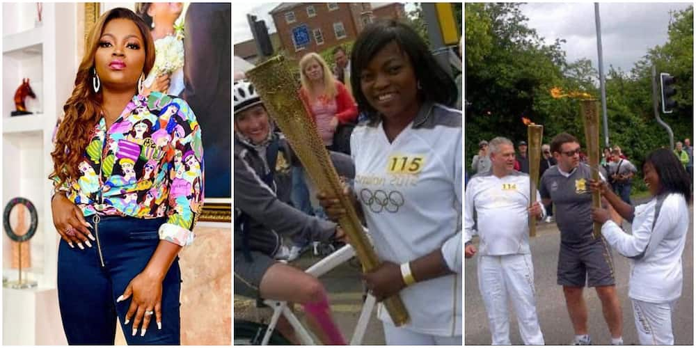 Actress Funke Akindele at Olympic games in 2012
