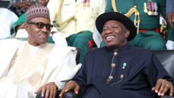 Jonathan ya yi magana bayan ya ji Buhari ya na laluben asusun bankinsa a Amurka