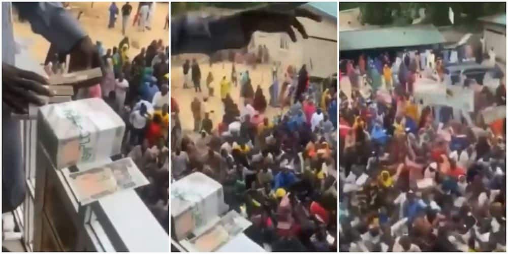 Northern Cubana: Nigerians react to video of man spraying cash from balcony to people