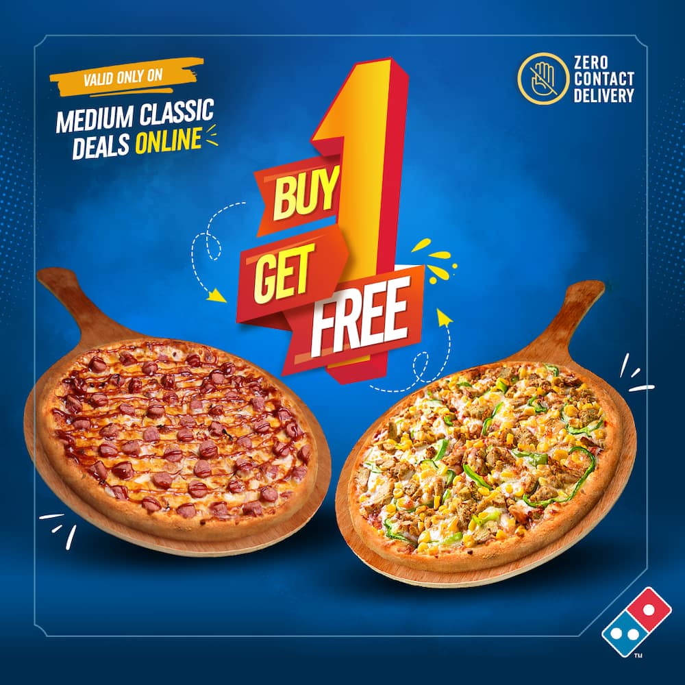 Big Flexin' With Domino's Pizza With Buy 1 Get 1 FREE Offer