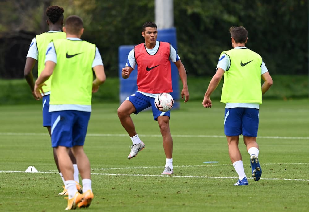 Thiago Silva joins Chelsea teammates in training since his move from PSG