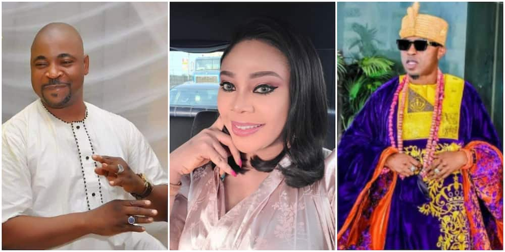 MC Oluomo's babe, Ehi Ogbebor, shares chat with Oluwo of Iwo after card collection drama