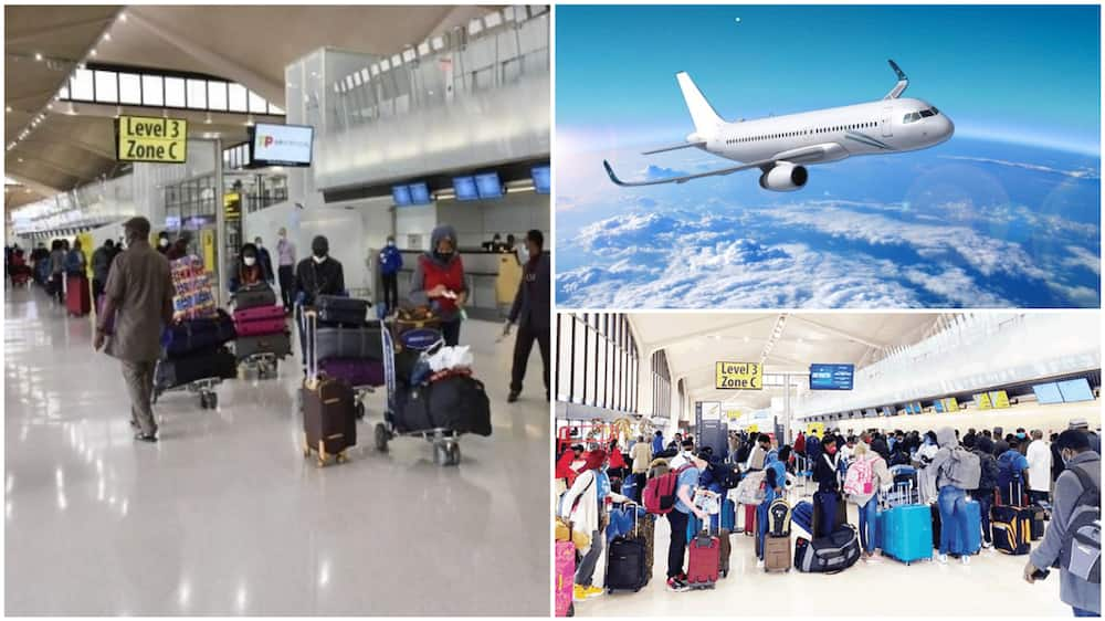 These pictures showing evacuated Nigerians and an airborne plane are for illustrative purposes only. Photo sources: The Nation/Guardian