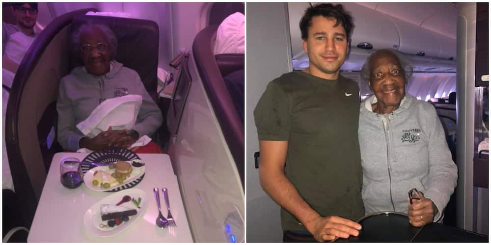 Surprise as man swaps his first-class seat in an aeroplane for old woman's economy class spot, stuns the internet