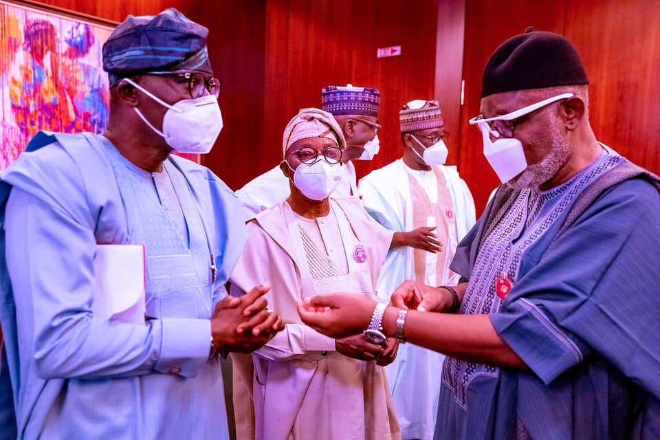 Sanwo-Olu, Akeredolu and other APC governors recently met with President Buhari