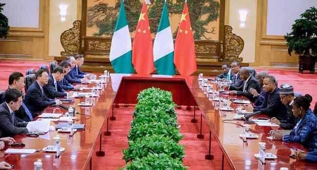 Buhari yayin da ya kai ziyara kasar China Hakkin mallakar hoto: Fadar Shugaban kasa