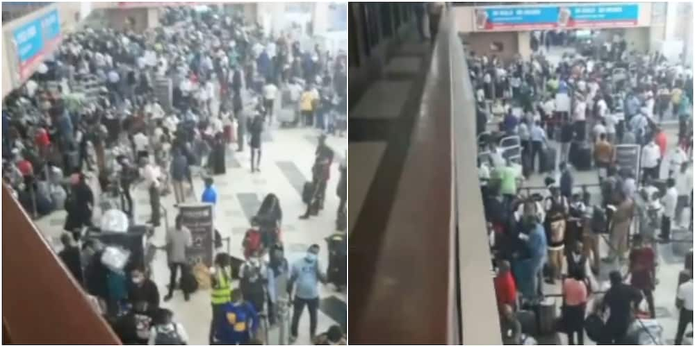 Plan B activated: Massive crowd gathers at departure section of Murtala Muhammed Airport, set to leave Nigeria