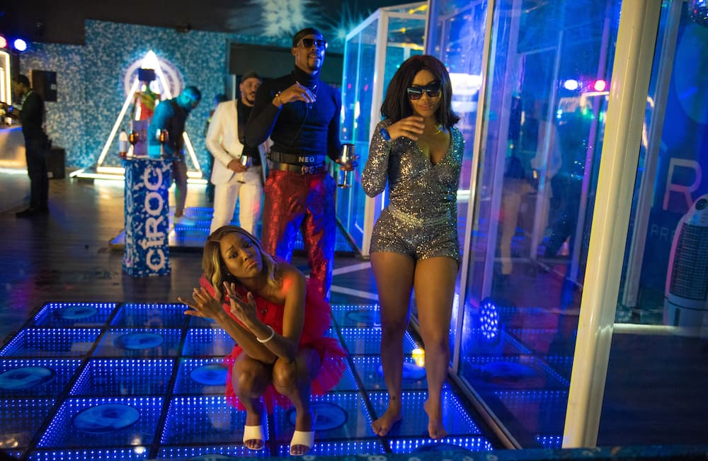 Housemates grooving to the party. Photo source: BBNaija