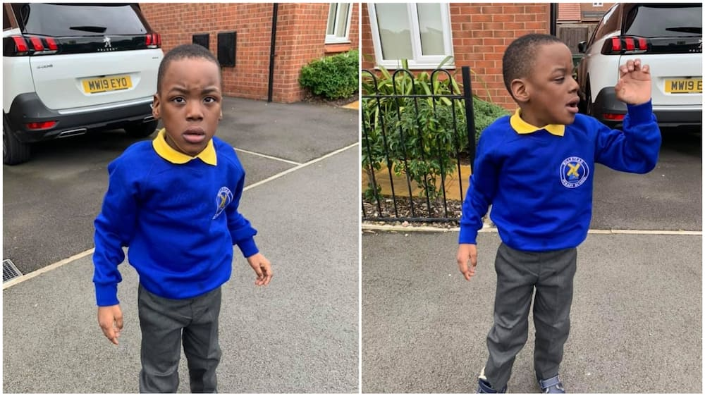 A collage showing the boy. Photo source: Facebook/Phillip Oyewale