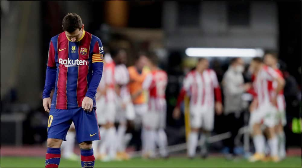 Breaking: Lionel Messi sees first red card of Barcelona career as Atletic Bilbao knock Catalans out of Spanish Super Cup