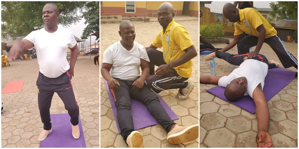 Fit fam: Veteran Nollywood actor Yinka Quadri spotted working out