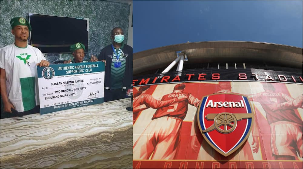 77-year-old woman supporting Arsenal presented with N250k gift, promised trip to Emirates