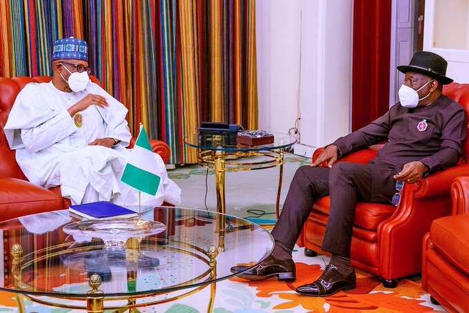 Goodluck Jonathan: Ex-president meets Buhari at Aso Rock