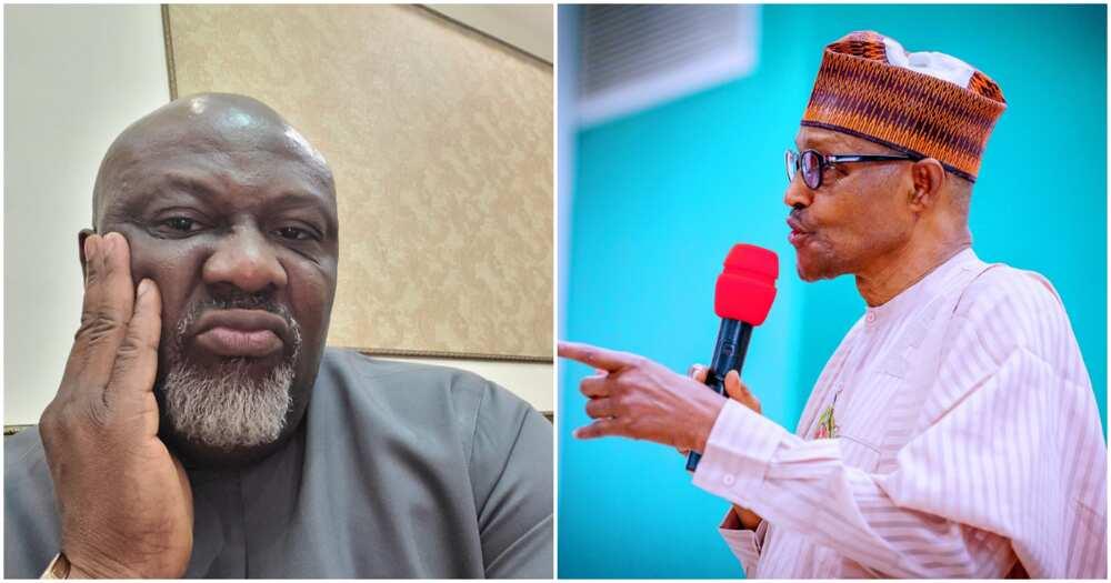 When is UK prime minister coming to Nigeria - Dino Melaye mocks Buhari's London medical trip