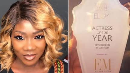Mercy Johnson excited as she bags actress of the year award (photo)