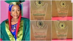 Nigerian lady 'breaks record' in Nigerian university, gathers 9 awards at graduation ceremony