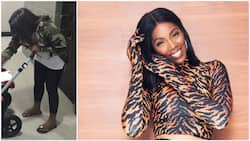 Tiwa Savage shows off swollen feet she suffered during pregnancy to mark Mother's Day (photo)
