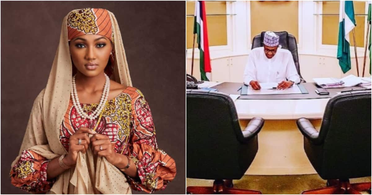 Zahra Buhari-Indimi rejoices as her father wins election, shares photo