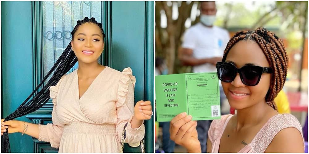 COVID 19: Actress Regina Daniels Gets Vaccinated, Shares Photo, Video Showing Her Experience