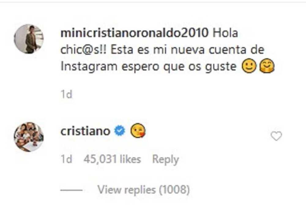 Cristiano Ronaldo's son joins Instagram, already has 979 000 followers