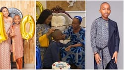 Mercy Aigbe shares video of beautiful mum praying powerfully for her son Olajuwon on his 10th birthday