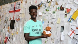 Arsenal fans give Bukayo Saka heart-melting gift after being racially abused after Euro 2020 disappointment