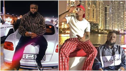 Viral video of Hushpuppi being bounced from stage during Wizkid's performance at an event in Dubai