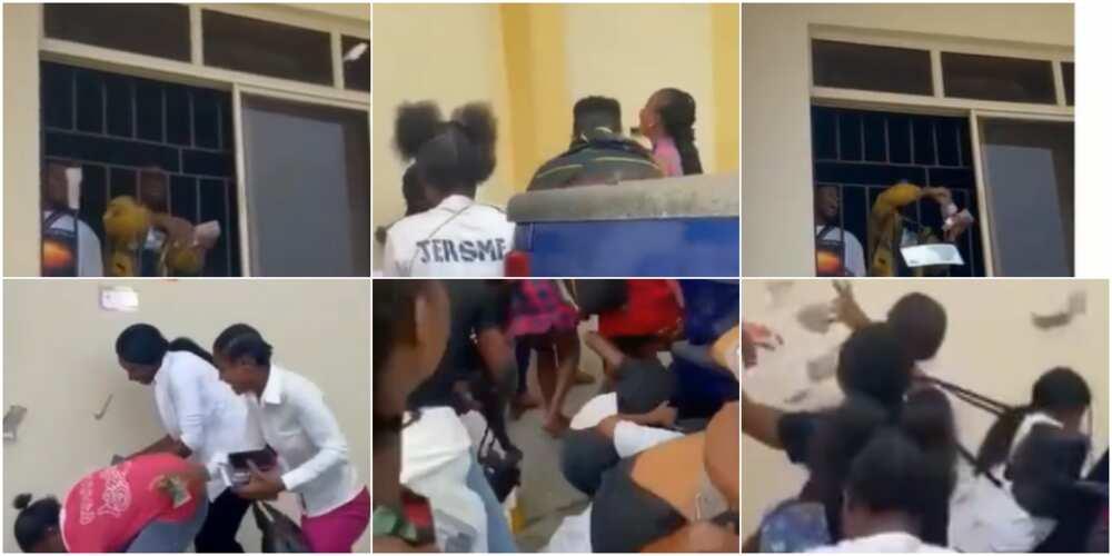 Many students scrambled for cash