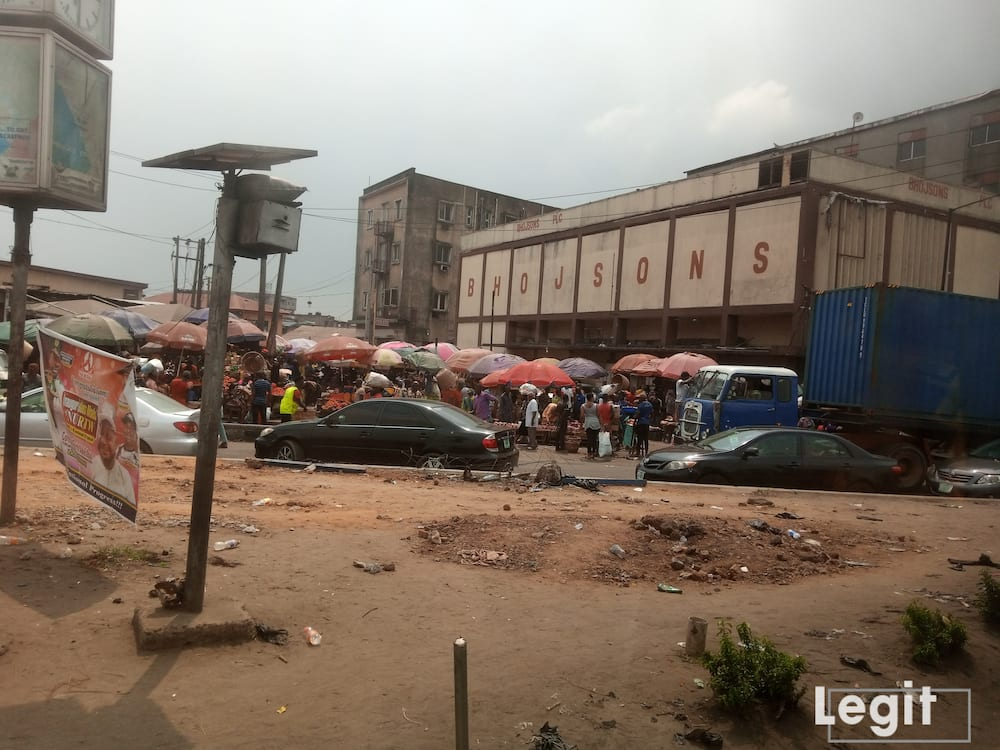 Despite the affordability of perishable goods, traders lament poor sales. Photo credit: Esther Odili