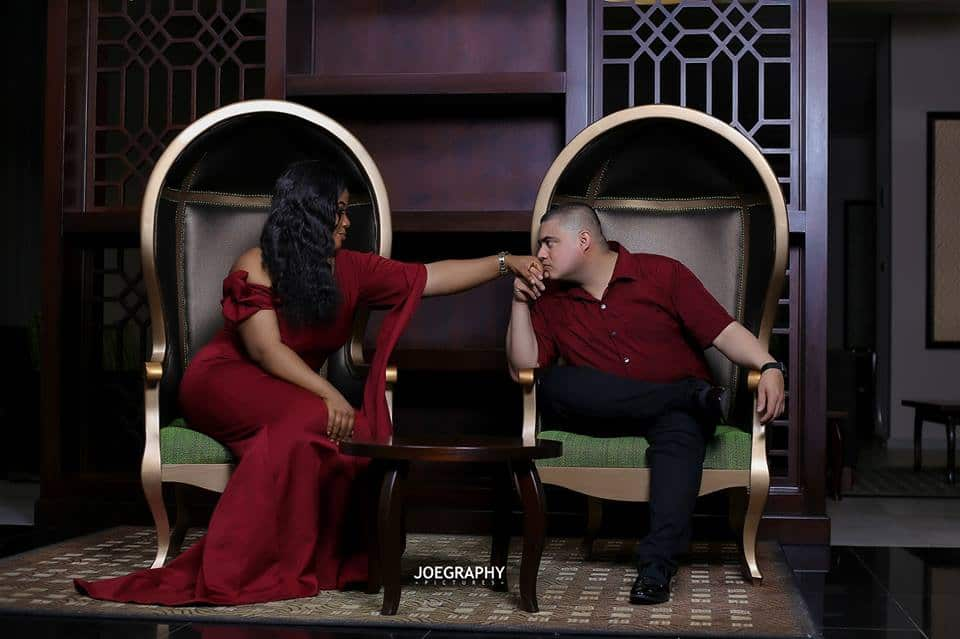 Lovely pre-wedding photos of Nigerian lady and her Oyinbo groom