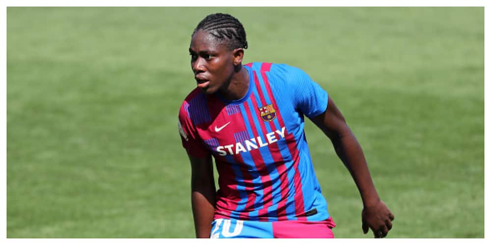 Nigerian Barcelona striker scores brace as club thrash Valencia by 8 unreplied goals