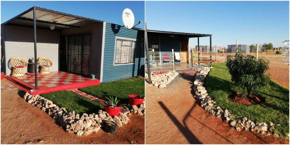 SA lady shows off shack
