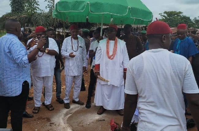 The Obi and his retinue of chiefs