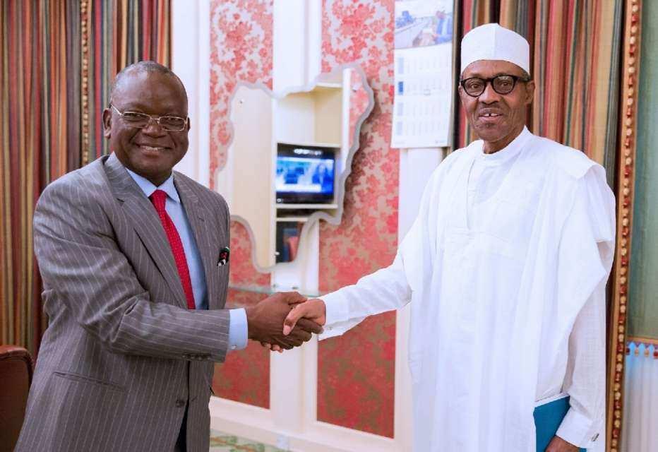 Gwamnan Benuwai da Shugaba Buhari