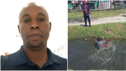 Lagos commercial bus driver and conductor spotted fighting dirty over N1500 (photos)