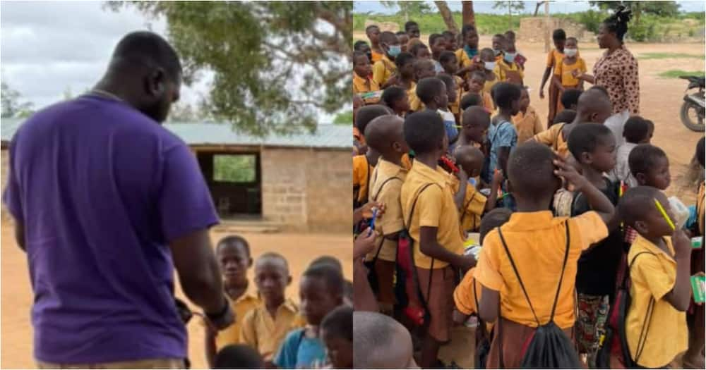 Michelle Troxclair: Kind Woman Gives Lunch, School Supplies and Backpacks to Pupils in Volta School