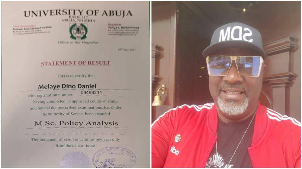 Dino Melaye Celebrates as He Bags Master's Degree from University of Abuja