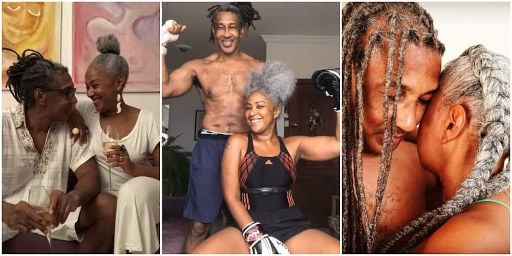 Loved up Photos of Hot-Looking Old Couple with Six Packs Spark Mixed Reactions on Social Media