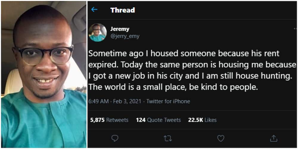Nigerian man reveals how someone he once helped repaid his kindness