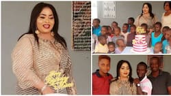 I love you all - Top Yoruba actress says as she celebrates 57th birthday with the less privileged kids (photos)
