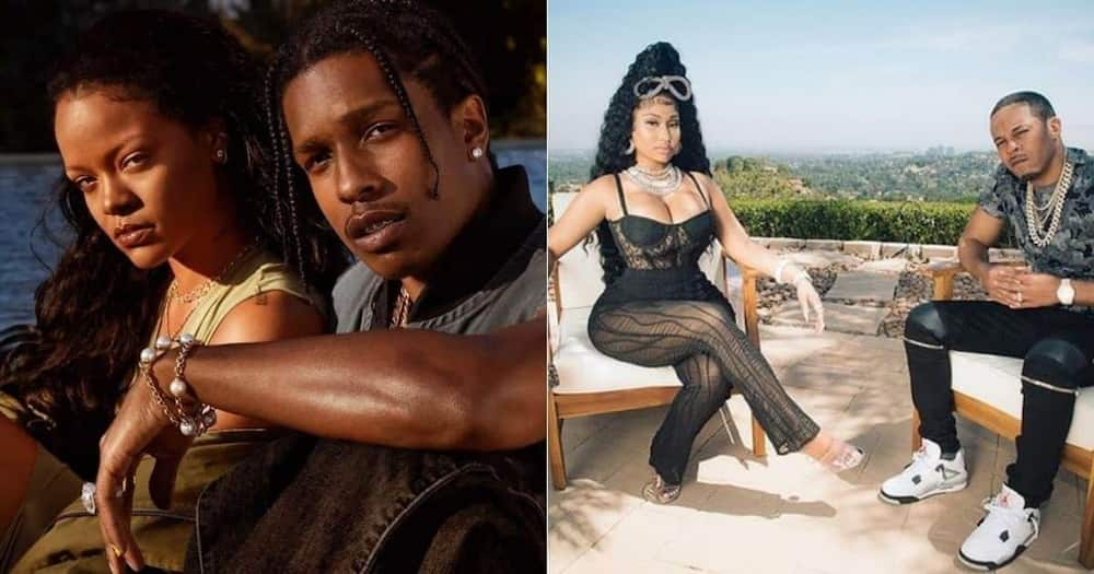 Nicki Minaj, Rihanna, hang out, ASAP Rocky
