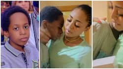 Billionaire wife Regina Daniels surprises handsome step son with MacBook Air on his birthday, video melts hearts