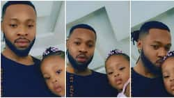 Twins from different generations: Singer Flavour and lookalike daughter celebrate birthday (video)