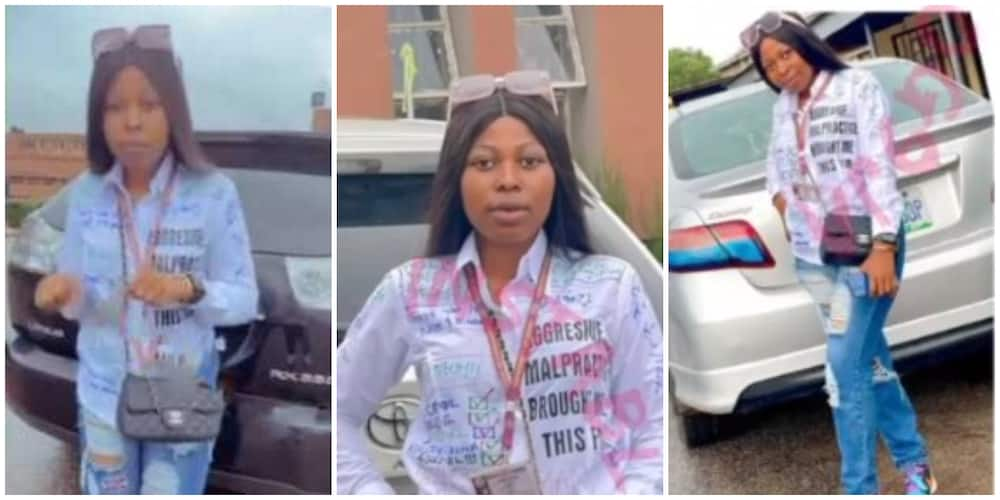 Lady says aggressive malpractice helped her to success in viral graduation celebration shirt, sparks reactions