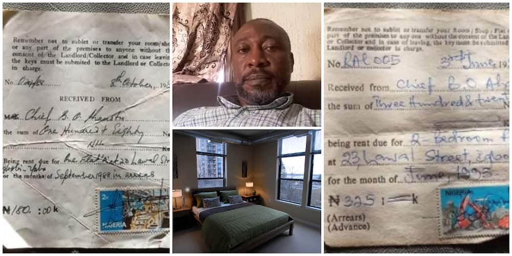 Nigerian Man Finds 1998 and 1993 Receipts of 2 Bedroom Flats His Parents Paid for at N180 and N325, Many React
