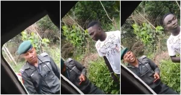 Policeman in Delta state destroys student's iPhone X for being expensive