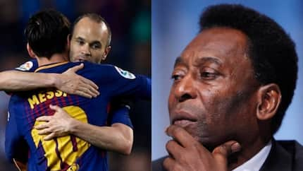 Barcelona legend Iniesta drops epic response to Pele who described Messi as a 1 skill player