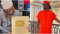 Congratulations pour in for Paul Okoye as he receives gold plaque from YouTube for hitting 1m subscribers