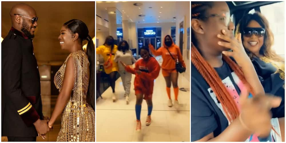 Annie Idibia's children spotted with grandmother in adorable videos.