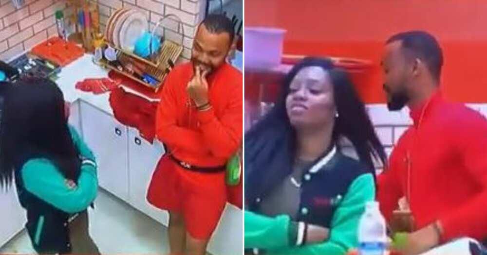 BBNaija 2019: Khafi's alleged ex-boyfriend Joe teases her in romantic way (video)